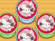 Hello Kitty Apples and Bananas Cupcakes
