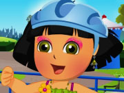 Pretty Dora Roller Skating Dress Up