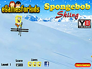 Spongebob Skiing